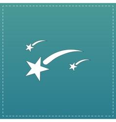 Meteor flat icon vector