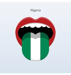 Nigeria language abstract human tongue vector