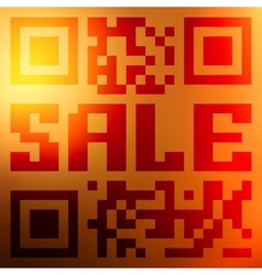 QR code for item in sale EPS 10 vector image