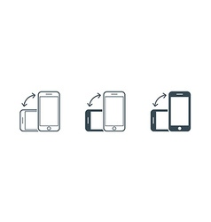 Rotate Smartphone or Cellular Phone or Tablet vector image