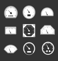 Set icons of speedometers vector