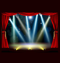 spotlight theatre stage vector image