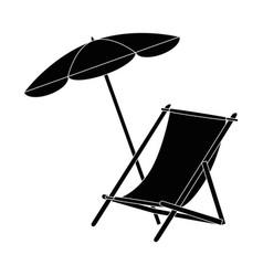 sun chair isolated vector image
