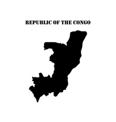 Symbol of isle of republic of the congo and map vector