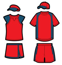 tennis uniforms vector image vector image