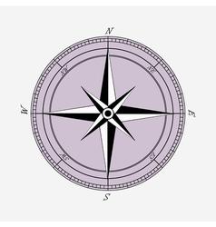 Vintage compas sign vector