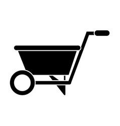 wheelbarrow garden tool pictogram vector image
