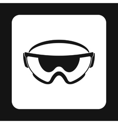 Military goggles icon simple style vector
