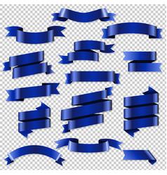 blue web ribbons set vector image