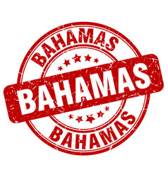 Bahamas red grunge round vintage rubber stamp vector