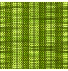 Style seamless knitted melange pattern green color vector