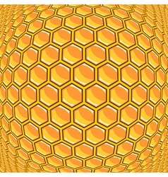 Design warped honeycomb pattern vector
