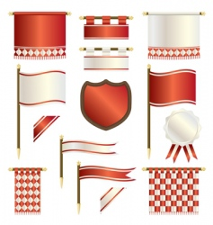 Banners and shields vector