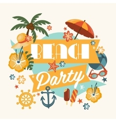 Beautiful beach party design vector