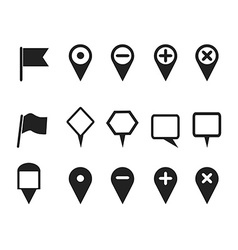Web design pointer icons set vector