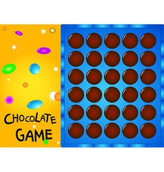 Game board chocolate ball vector