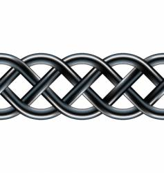 Celtic serpentine rope design vector