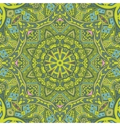 Green spring geometric seamless tribal pattern vector