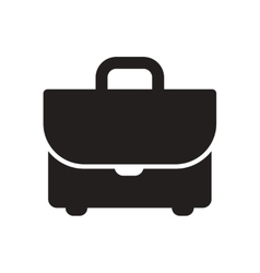 Flat icon in black and white business suitcase vector