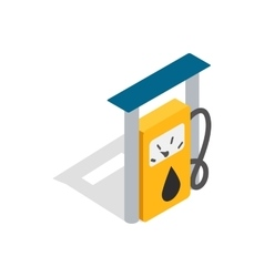 Petrol gas station icon isometric 3d style vector