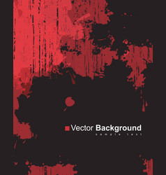 abstract background with colorful red ink splashes vector image