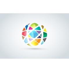 abstract earth globe logo design vector image
