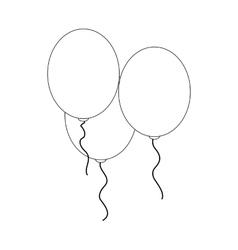 Balloon icon isometric 3d vector image