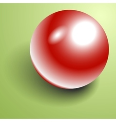 Beautiful 3d shiny natural red pearl vector
