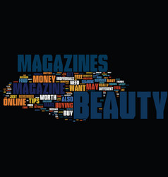 Beauty make up text background word cloud concept vector