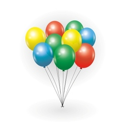 bunch of balloons vector image vector image