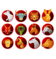 Chinese zodiac symbols vector