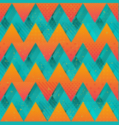 colored zigzag seamless texture vector image
