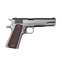 Colt m1911 pistol isolated on white vector