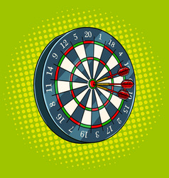 darts game pop art style vector image vector image