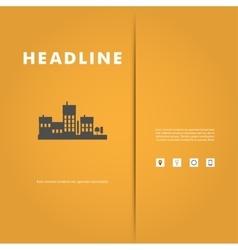 design of black silhouette cityscape eps vector image