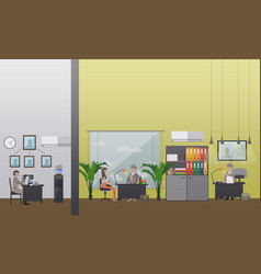 detective office in flat vector image vector image