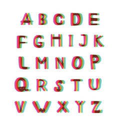 Felt-tip pen alphabet set vector