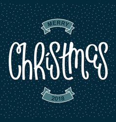 funny merry christmas card vector image