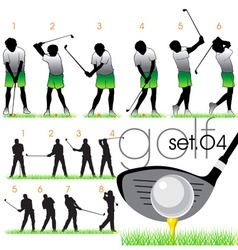 golf lessons in phases vector image vector image