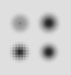 Halftone circle vector