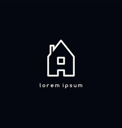 house icon logotype vector image