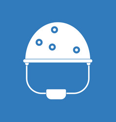 Icon helmet with bullet holes vector