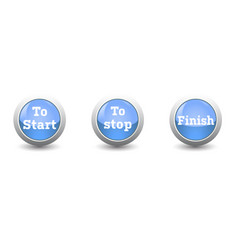 icon startstop and finish button isolated on vector image vector image