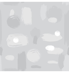 Ink brush strokes abstract seamless pattern vector