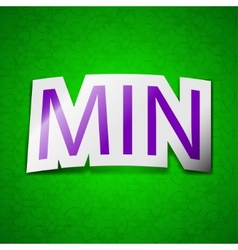 Minimum icon sign symbol chic colored sticky label vector