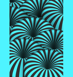 optical spiral tunnel hole effect striped 3d vector image vector image