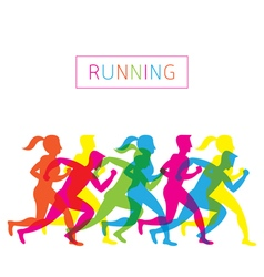 Running People Run Athlete vector image