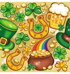 St Patrick's day seamless vector image vector image