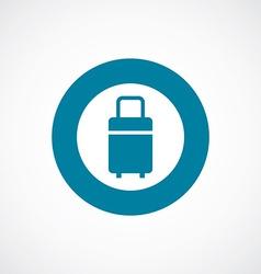 Travel bag icon bold blue circle border vector