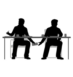 Under the table deal vector image vector image